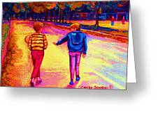 Lets Play Ball At Beaverlake Park Greeting Card
