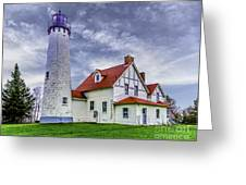 Lighthouse At Point Iroquois Greeting Card