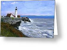 Lighthouse South Portland Me  Greeting Card