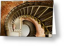 Lighthouse Stairs Cape Blanco Oregon 1 Greeting Card