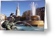 London - Trafalgar Square  Greeting Card