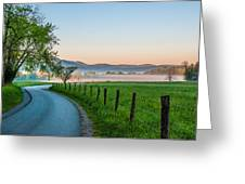 May Morning In The Cove Greeting Card