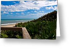 Melbourne Beach On The East Coast Of Florida Greeting Card