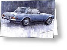 Mercedes Benz 280 Sl W113 Pagoda  Greeting Card by Yuriy  Shevchuk