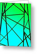 Metal Frame Abstract Greeting Card