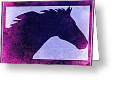 Mindy's Purple Horse  Greeting Card