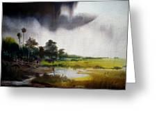 Monsoon Village  Greeting Card