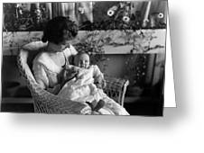 Mother Holding Baby 1910s Black White Archive Greeting Card