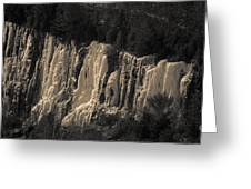 Mountain Side Ice Greeting Card