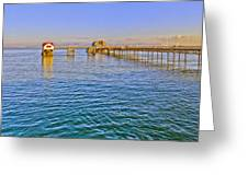 Mumbles Pier And Lifeboat Station Greeting Card