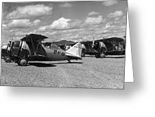 Navy Biplanes 19411945 Black White 1940s Airport Greeting Card