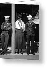 Navy Recruiting Personnel 19171918 Black White Greeting Card