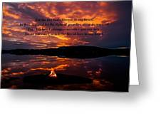 No One Can Quench The Fire Of Love In My Heart Greeting Card