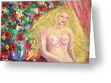 Nude Fantasy Greeting Card by Natalie Holland