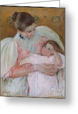 Nurse And Child Greeting Card