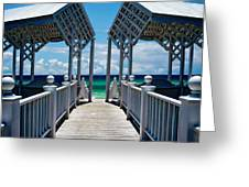 Oceanfront Pavilion Greeting Card