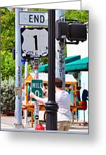 # One Stolen Sign Key West  Greeting Card