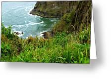 Oregon's Seaside Cliffs In Springtime Greeting Card