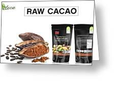 Organic Unroasted Cacao Powder Greeting Card