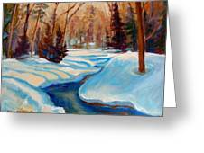 Peaceful Winding Stream Greeting Card