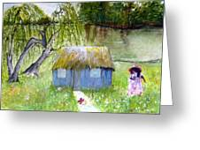 Playhouse By The Lake Greeting Card