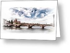 Ponte Alla Carraia, Firenze Greeting Card