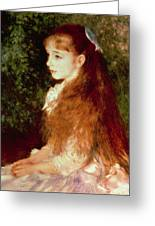 Portrait Of Mademoiselle Irene Cahen D'anvers Greeting Card