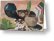 Pottery In The Desert Greeting Card