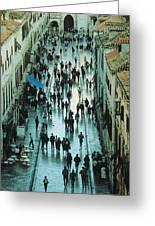 Promenade In Dubrovnik Greeting Card