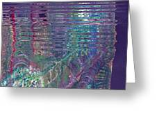 Purple Linear Abstraction Greeting Card
