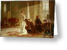 Queen Victoria Receiving News Greeting Card