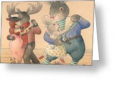 Rabbit Marcus The Great 04 Greeting Card