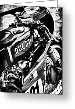 Racing Ducati Monochrome Greeting Card