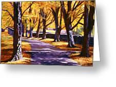 Road Of Golden Beauty Greeting Card