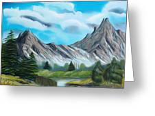 Rocky Mountain Tranquil Escape Dreamy Mirage Greeting Card