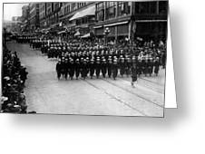 Sailors Marching In Parade 19171918 Black White Greeting Card