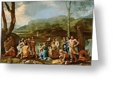 Saint John Baptizing In The River Jordan Greeting Card