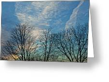 Sky And Cloouds Early Evening Greeting Card