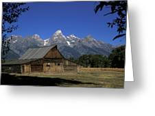 South Moulton Barn Grand Tetons Greeting Card