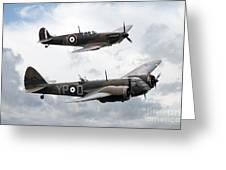 Spitfire And Blenheim Greeting Card