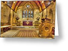 St Lawrence Seal Chart - Chancel Greeting Card