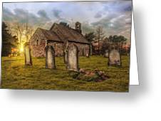 St Oswald At Sundown Greeting Card