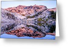 Leprechaun Lake Sunrise Greeting Card