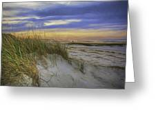 Sunset Beach Dunes Greeting Card
