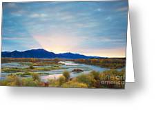 Swan Valley Sunrise Greeting Card