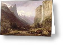 Swiss Scene Greeting Card by Samuel Jackson