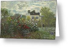 The Artist's Garden In Argenteuil  Greeting Card
