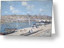 The Beach At Saint Mammes Greeting Card