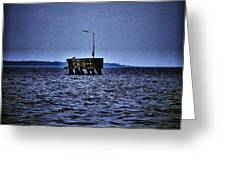 The Dock Of Loneliness Greeting Card