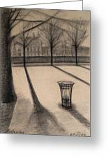 The Evening In Tuileries Paris Greeting Card